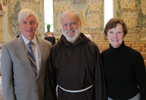 Anne and I with Fr. Raniero Cantalamessa, the Preacher to the Papal Household, during our recent visit with him.