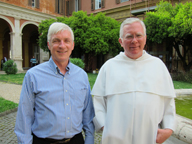 Ralph with his Dissertation Moderator, Fr. Robert Christian, O.P. in the courtyard of the Pontifical University of St. Thomas, also known as the Angelicum.